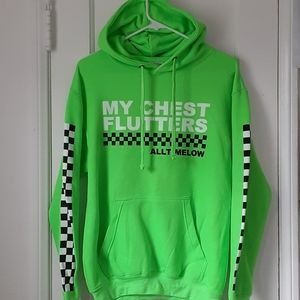 All Time Low Sweatshirt Hoodie Green New Small